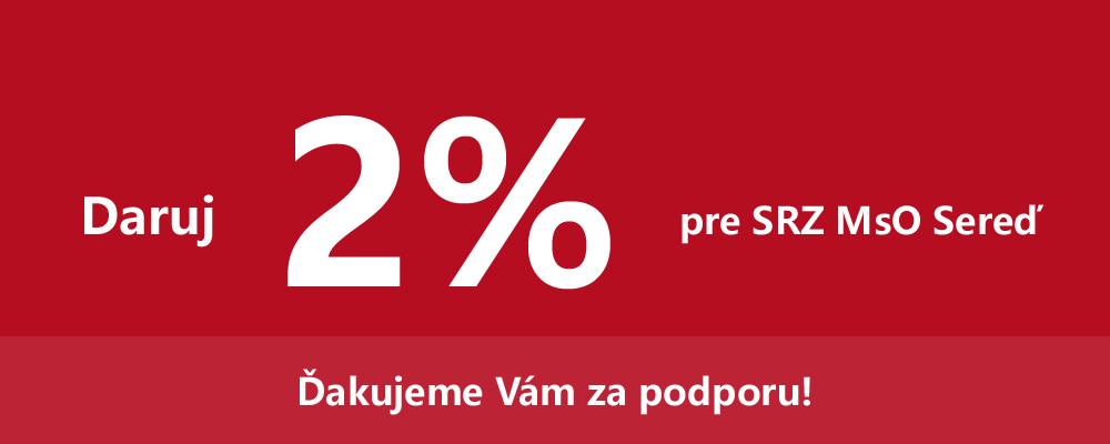 Dve percentá pre SRZ MsO Sereď