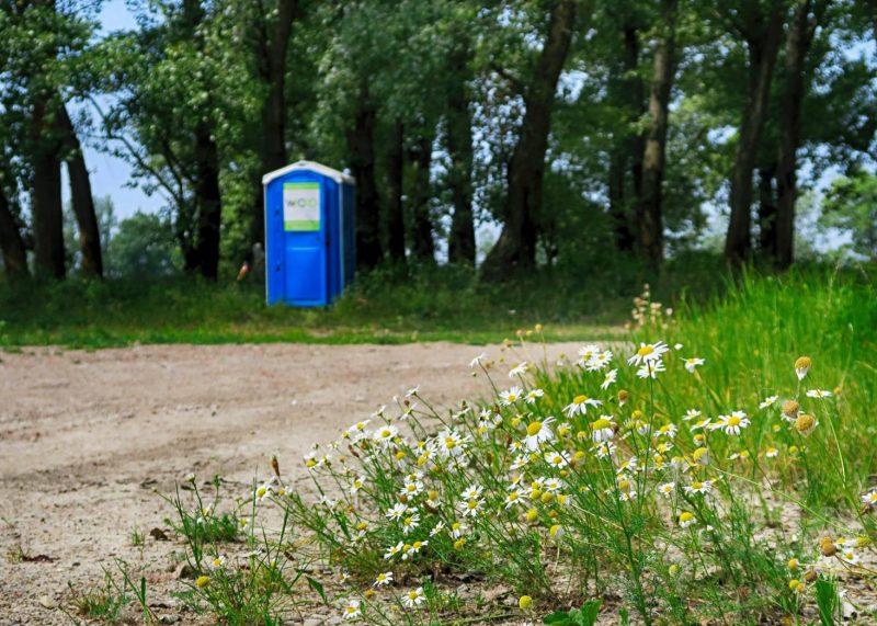 Umiestnenie prenosných toaliet