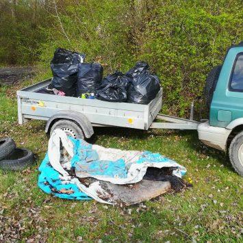 Jarné upratovanie v okolí čepenského ramena, Novej vody a Kolena – 6.4.2019